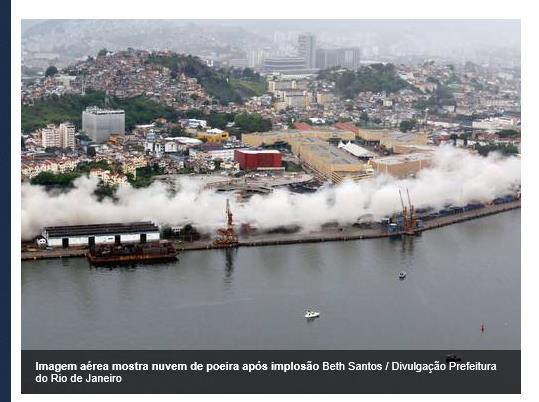 Weg frei für das neue Verkehrssystem (Screenshot: O Globo)