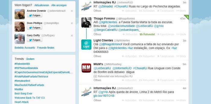 Kundenservice auf Twitter (Screenshot)