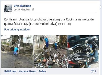 Aufräumarbeiten in der Rocinha (Screenshot: Viva Rocinha)