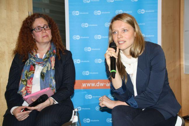 Podiumsdiskussion im ARD-Hauptstadtstudio (Foto: Sonja Peteranderl)