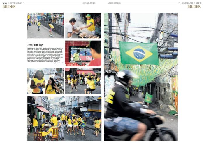 """Favela-Bilderstrecke in der """"Welt kompakt"""""""