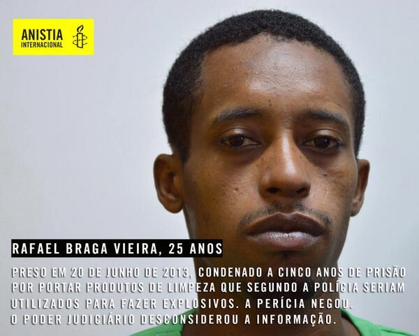 Im Gefängnis seit einem Jahr: Rafael Vieira