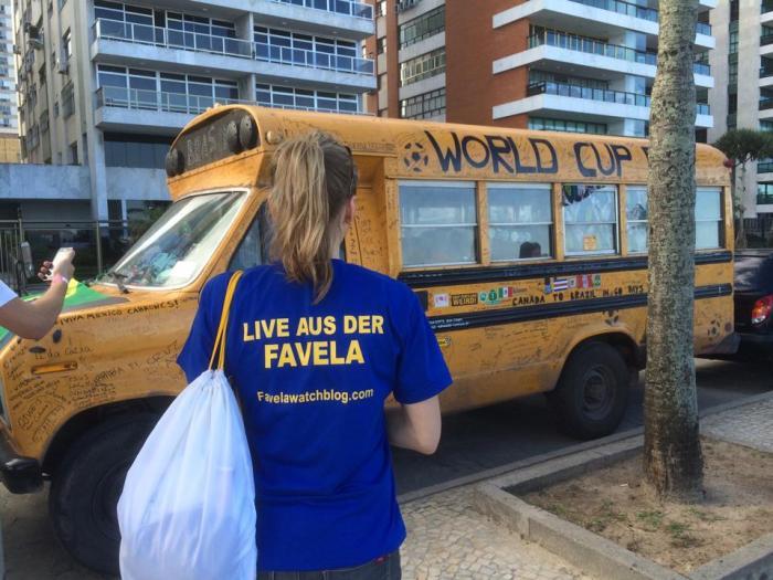 Favelawatchblog beim WorldCupBus