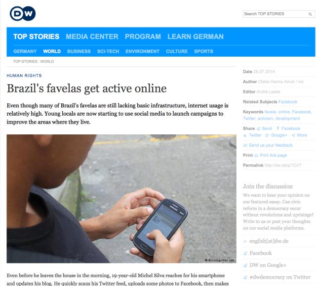 DW - Favelas & Internet