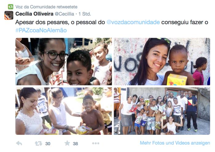 Osteraktion im Complexo do Alemao (Twitter)