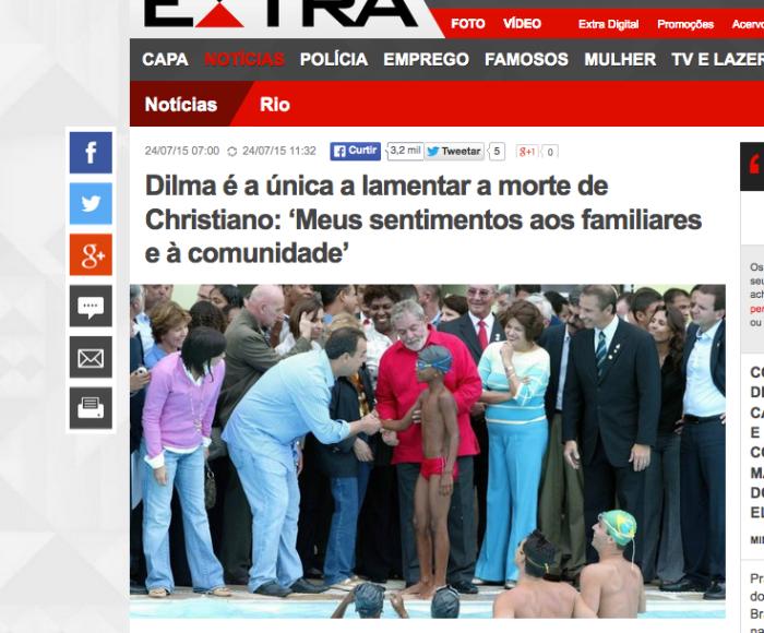 Umgeben von hochrangigen Politikern: Der junge Christiano T. im gerade gebauten Schwimmbad (Screenshot: extra)