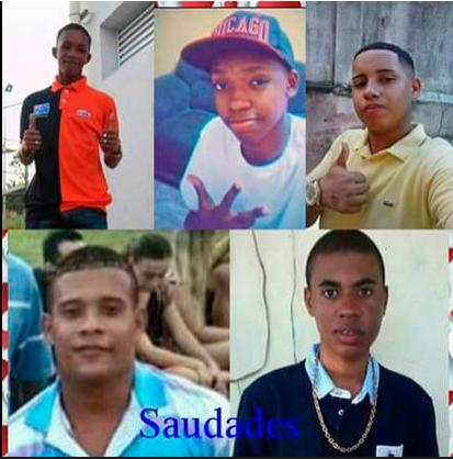 Die fünf getöteten Jugendlichen (Screenshot Facebook)