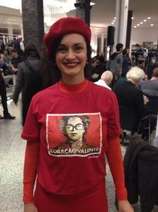 Anhänger der Präsidentin Dilma Rousseff in Berlin (Foto: Julia Jaroschewski)
