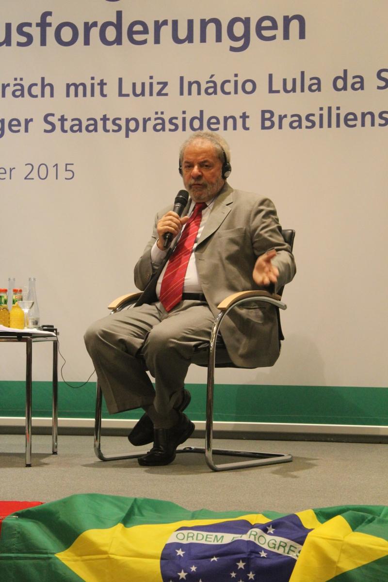 Ex-Präsident Lula Inacio da Silva in Berlin (Foto: Julia Jaroschewski)