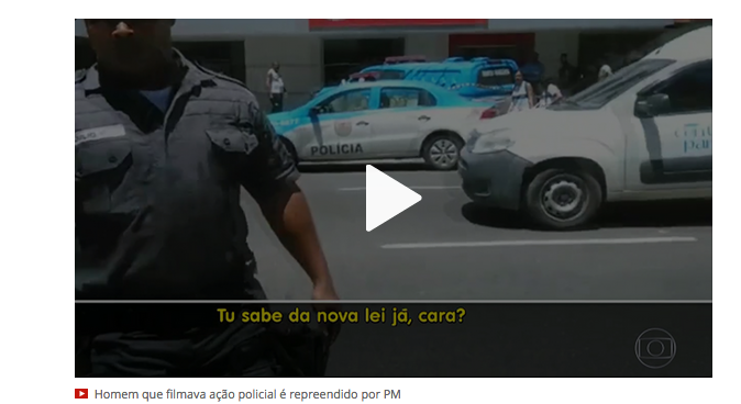 Gefilmter Polizist (Screenshot G1)