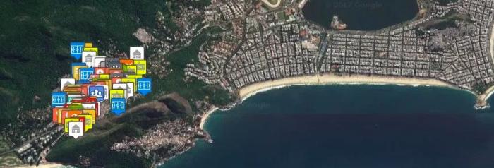 Mapa Cultural da Rocinha (Screenshot)