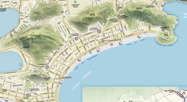 Mapa Riotur: Grüne Hügel statt Favelas (Screenshot)