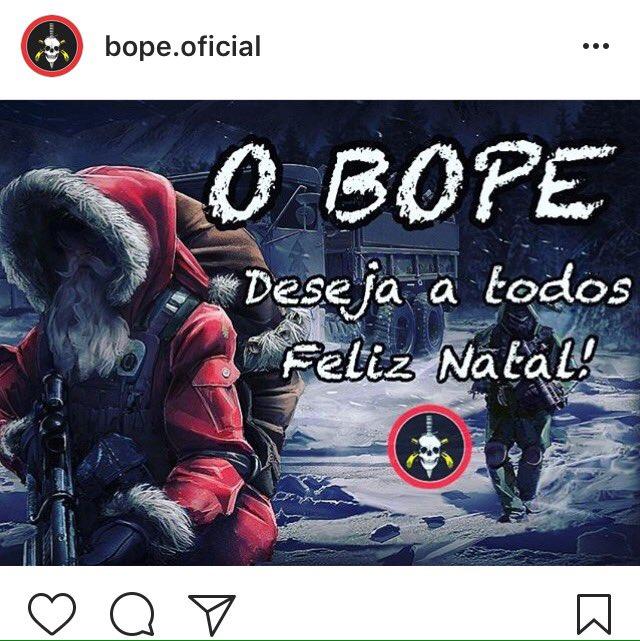 Weihnachtsgrüße von der Elitetruppe Bope (Foto: Bope)