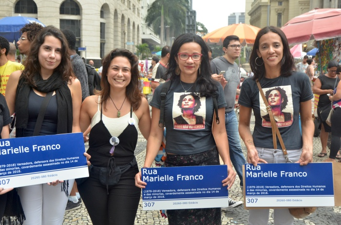 Protest Marielle Franco Frauen